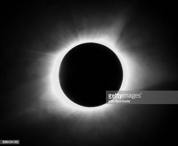 The Great American Solar Eclipse reaches totality on August 21 2017 in Clinton South Carolina