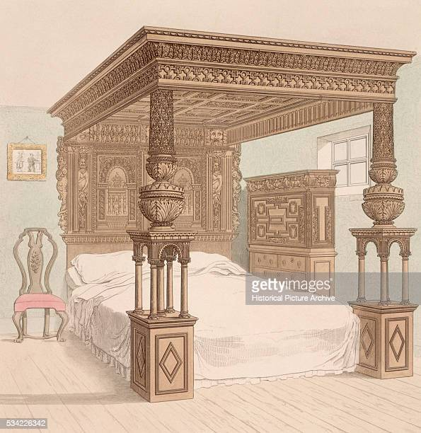 The Great Bed of Ware which dates from the reign of Queen Elizabeth I