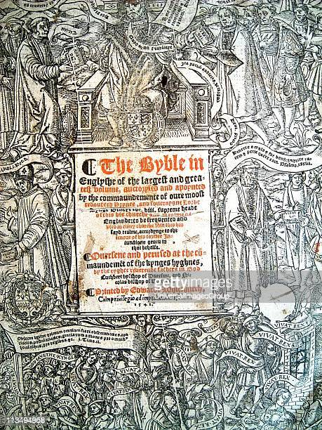 The Great Bible' 1541 This is the first 'Authorised Bible': Thomas Cromwell encouraged Henry VIII to have the Bible in English placed in the churches...