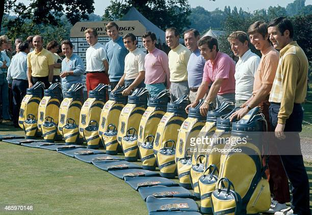 The Great Britain and Ireland Ryder Cup team at a gettogether prior to the event at South Hertfordshire Golf Club in Totteridge on 6th September 1971...