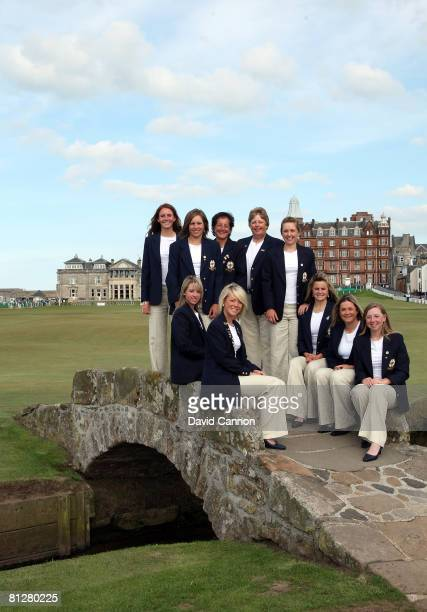 The Great Britain and Ireland team Florentyna Parker Elizabeth Bennett team manager Tegwen Matthews captain Mary McKenna Sally Watson Jodi Ewart...
