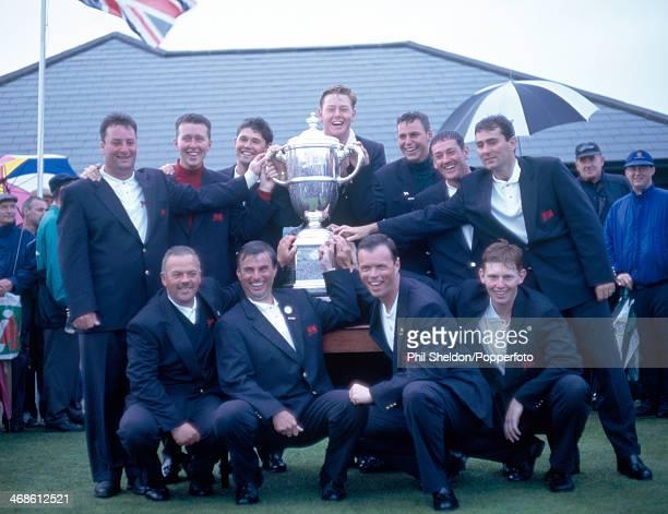 The Great Britain and Ireland Team including Clive Brown , Jody Fanagan, Mark Foster, Stephen Gallacher, Padraig Harrington, Barclay Howard, David...