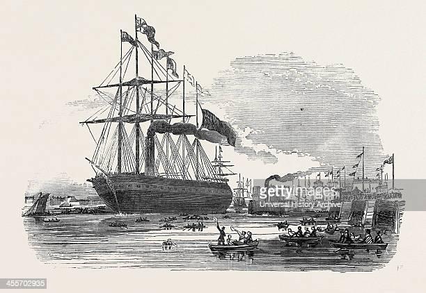 The Great Britain Steamship Leaving Blackwall