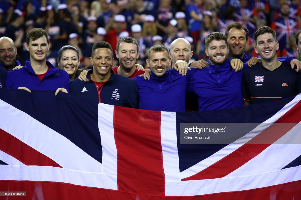 Great Britain v Uzbekistan - Davis Cup by BNP Paribas World Group Play Offs - Day Three : News Photo