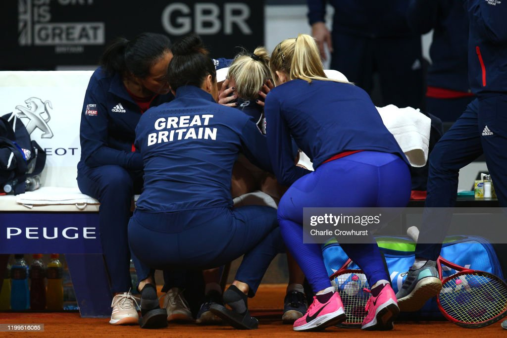 Slovakia v Great Britain - Fed Cup: Day 2 : News Photo