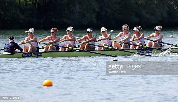 The Great Britain Women's Eight team of Katie Greave Melanie Wilson Frances Houghton Polly Swann Jessica Eddie Olivia CarnegieBrown Karen Bennett and...