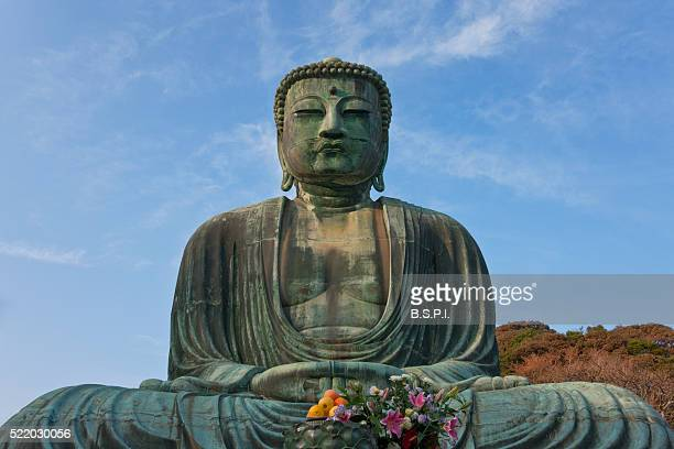 The Great Buddha in Afternoon Sunlight in Kamakura, Japan