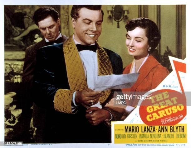 The Great Caruso lobbycard Mario Lanza Ann Blyth 1951