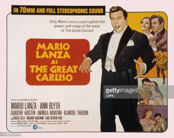 The Great Caruso poster Mario Lanza Ann Blyth 1951