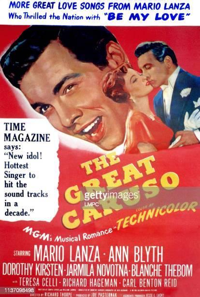 The Great Caruso poster Mario Lanza as Enrico Caruso Ann Blyth 1951