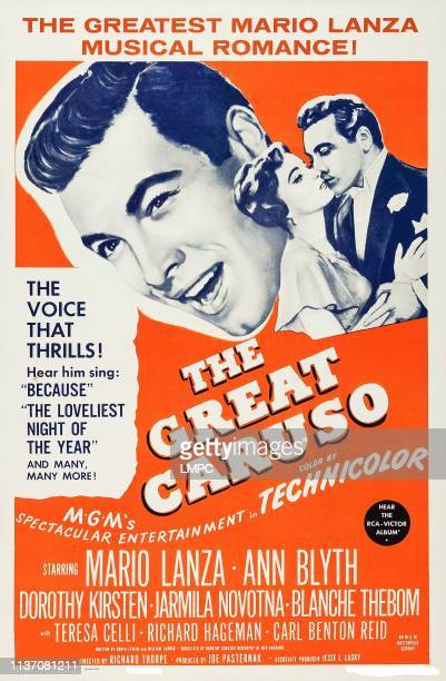 The Great Caruso poster US poster art Mario Lanza Ann Blyth 1951