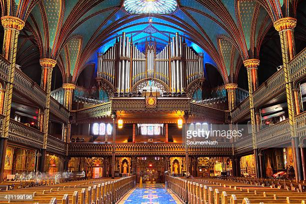 the great casavant organ at notre dame basilica, montreal - cathedral stock pictures, royalty-free photos & images