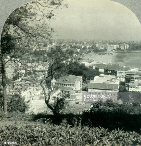 The Great City of Bombay the Metropolis of Western India from Malabar Hill' circa 1930s View of Chowpatty beach from Malabar Hill a residential...