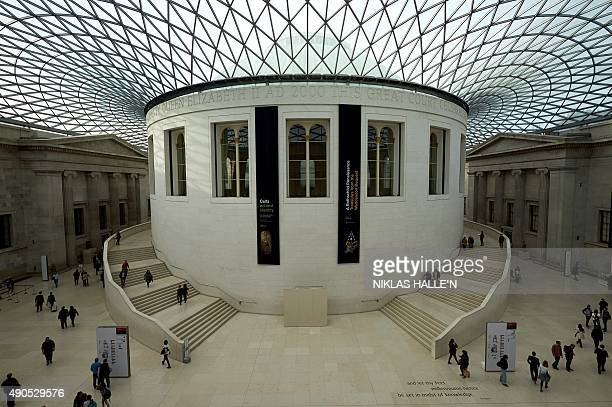 The Great Court inside the British Museum is pictured in central London on September 29 2015 Hartwig Fischer who has become the first nonBriton to...