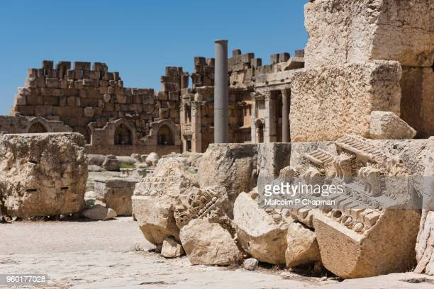 The Great Court, Roman Heliopolis, Baalbek, Bekaa Valley, Lebanon