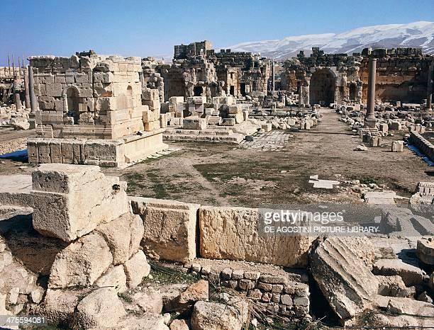 The great courtyard of Baalbek Lebanon Roman civilisation