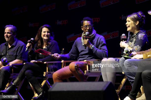 CON 'The Great Debate' Pictured Jimmy Palmiotti Amanda Connor Orlando Jones Amber Nash