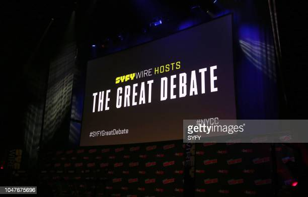 CON 'The Great Debate' Pictured Monitor on stage