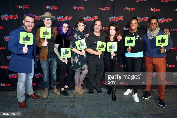 CON 'The Great Debate' Pictured Travis McElroy Adam Savage Mallory O'Meara Amber Nash Jimmy Palmiotti Amanda Connor Aisha Tyler Orlando Jones