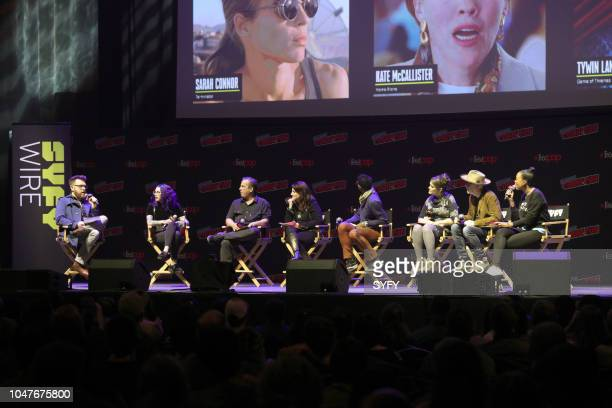 CON 'The Great Debate' Pictured Travis McElroy Mallory O'Meara Jimmy Palmiotti Amanda Connor Orlando Jones Amber Nash Adam Savage Aisha Tyler