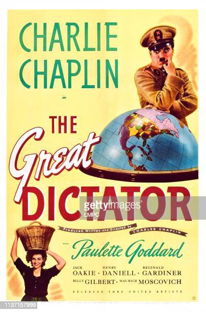 The Great Dictator poster US poster Charlie Chaplin Paulette Goddard 1940