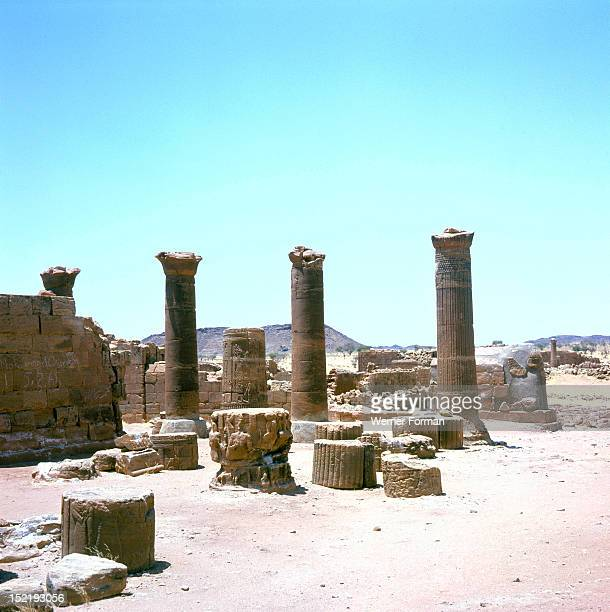 The great enclosure at the Meroitic temple complex of MusawaratasSafra The great enclosure and its surrounding buildings are thought to be either a...