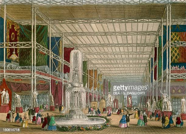 The Great Exhibition at the Crystal Palace in London 1851 England 19th century