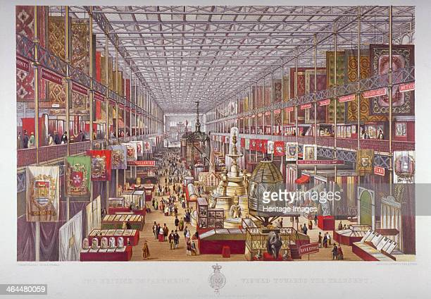 The Great Exhibition Hyde Park Westminster London 1851 View of the British Department of the exhibition held in the purposebuilt Crystal Palace