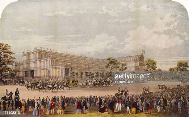 The Great Exhibtion of 1851 The arrival of the Royal Procession for the opening by Queen Victoria of the Great Exhibiton of 1851 Illustration in 'The...