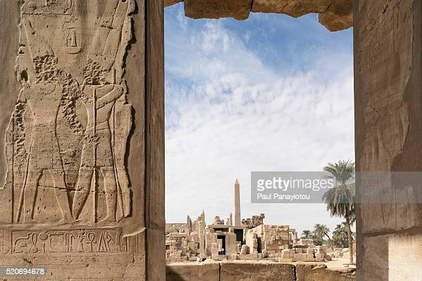 the great festival hall of tuthmosis iii, temples of karnak, luxor, egypt - temples of karnak stock pictures, royalty-free photos & images