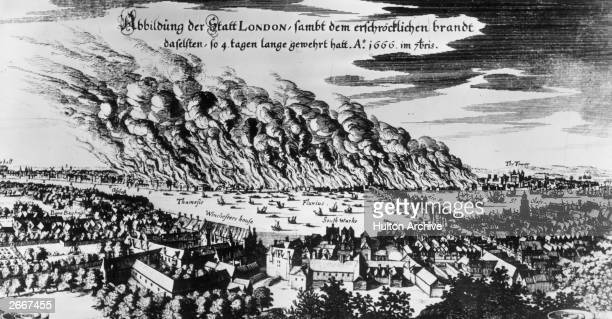 The great fire of London, September 1666.