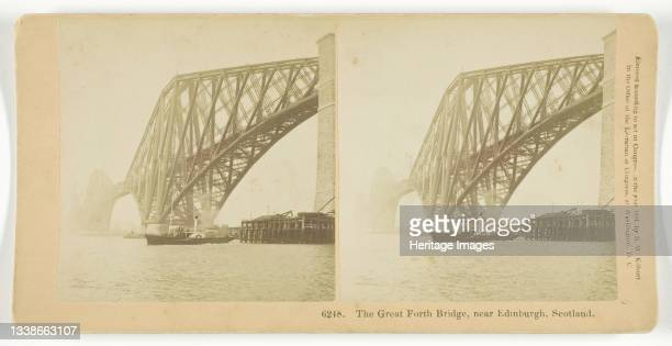The Great Forth Bridge, Near Edinburgh, Scotland, 1891. Albumen silver print, stereocard. Artist BW Kilburn.