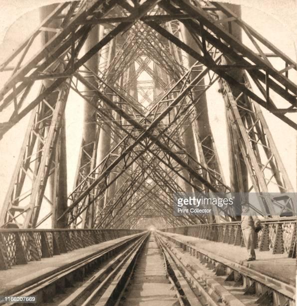 "The Great Forth Bridge, Scotland', 1896. From ""Underwood and Underwood Publishers, New York-London-Toroto Canada-Ottawa Kansas. "". Artist Works and..."
