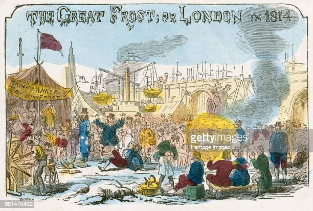 The Great Frost or London in 1814' 1814 A frost fair on the River Thames From the Mayson Beeton Collection Artist Unknown