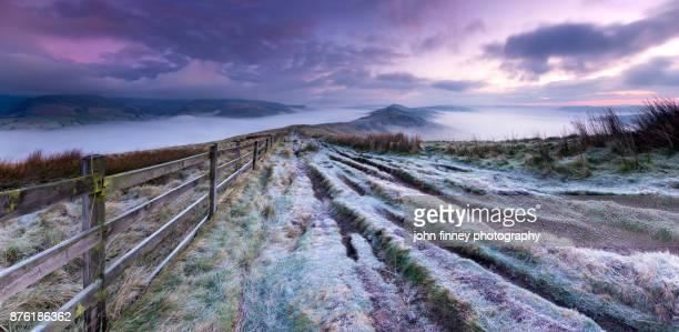 the great frosty ridge, derbyshire, uk - majestic stock pictures, royalty-free photos & images