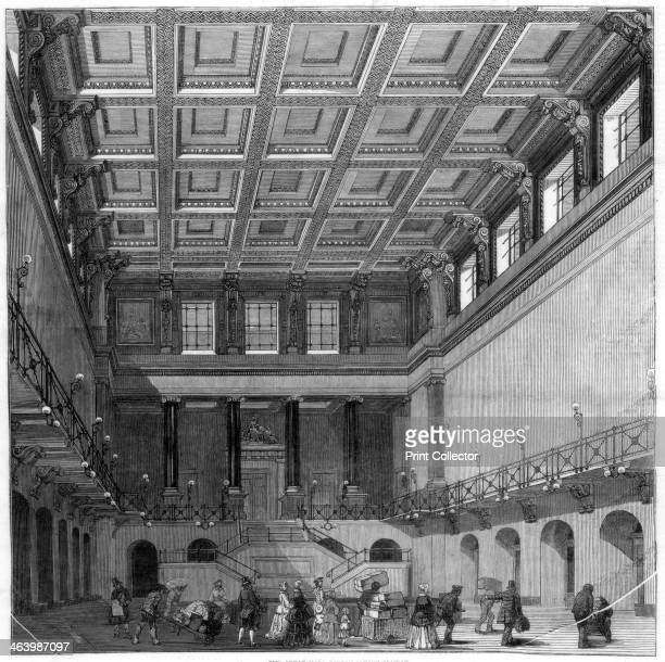 The Great Hall Euston Square satation 1849 A print from the Illustrated London News 2nd June 1849