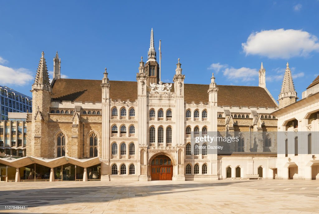 The Exterior of the Guildhall in London, built 1502 : News Photo