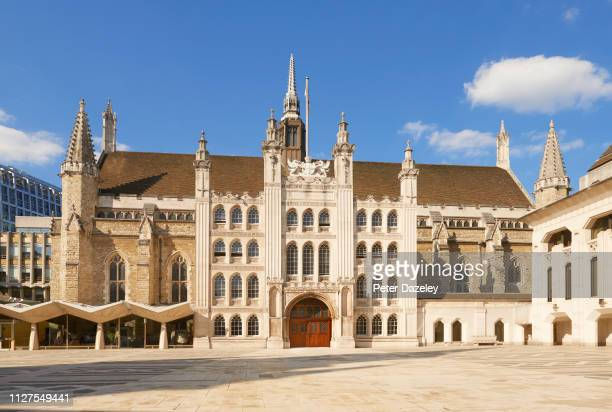 The Great Hall exterior of the Guildhall on February 5,2019 in London.