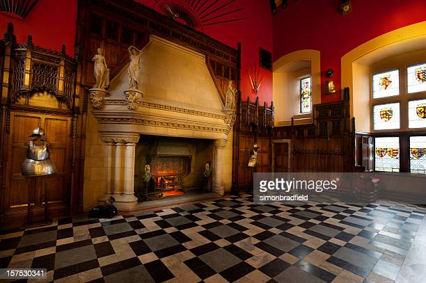 the great hall of edinburgh castle - castle stock photos and pictures