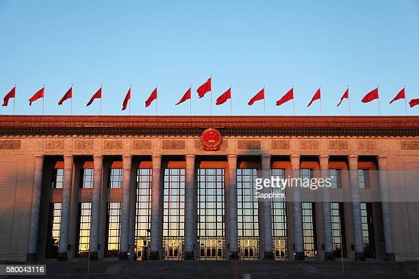 the great hall of the people - china politics stock pictures, royalty-free photos & images