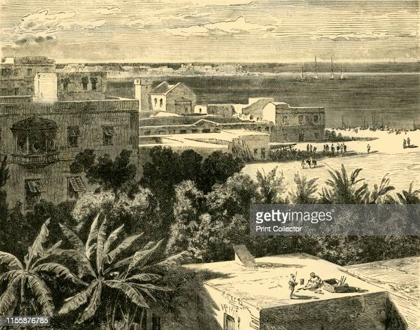 The Great Harbour at Alexandria' 1890 Alexander the Great in 331 BC cleared sand and silt deposits as part of construction of Alexandria city as a...