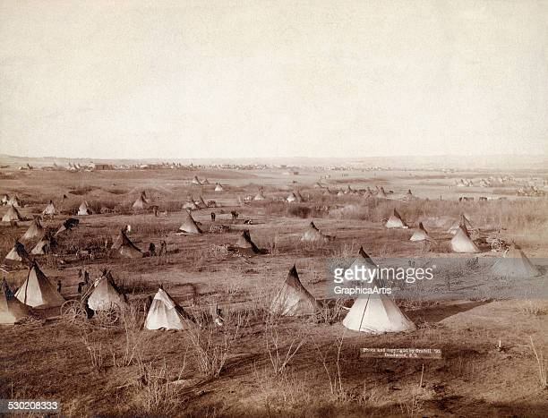 The Great Hostile Camp, an expansive vista of the Lakota tribal village on the Pine Ridge Reservation in South Dakota, by John CH Grabill , 1891.