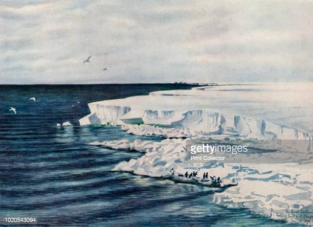 The Great Ice Barrier Looking East from Cape Crozier' 4 January 1911 The final expedition of British Antarctic explorer Captain Robert Falcon Scott...