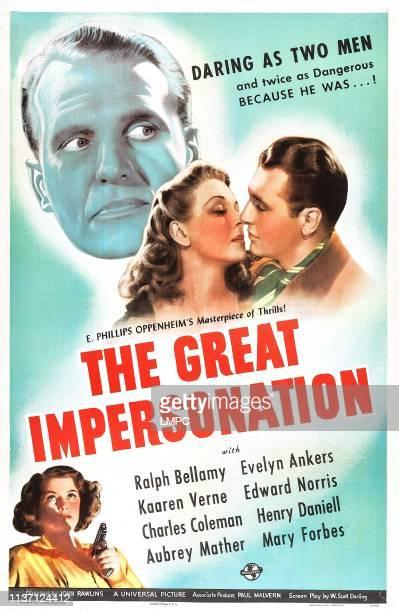 The Great Impersonation poster US poster top left Ralph Bellamy center from left Evelyn Ankers Edward Norris bottom left Kaaren Verne 1942