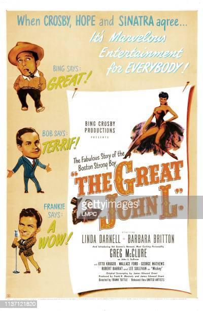 The Great John L poster US poster Barbara Britton left from top Bing Crosby Bob Hope Frank Sinatra Greg McClure center Greg McClure 1945
