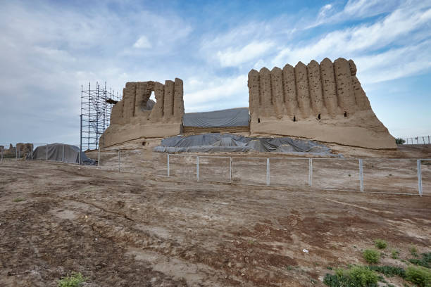 """The Great Kyz Kala or """"Maiden's Castle"""" in the ancient Merv, Turkmenistan"""