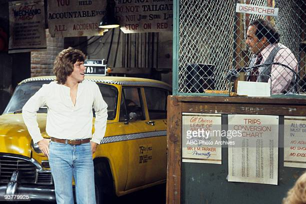 TAXI The Great Line Season One 10/17/78 Jeff Conaway Danny DeVito on the Walt Disney Television via Getty Images Television Network comedy Taxi John...