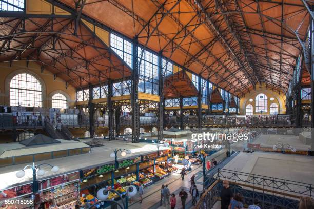 The great market  hall of Budapest, from above, Budapest, Hungary
