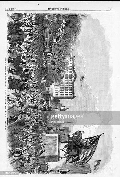 The Great Meeting in Union Square New York To Support the Government April 20 1861