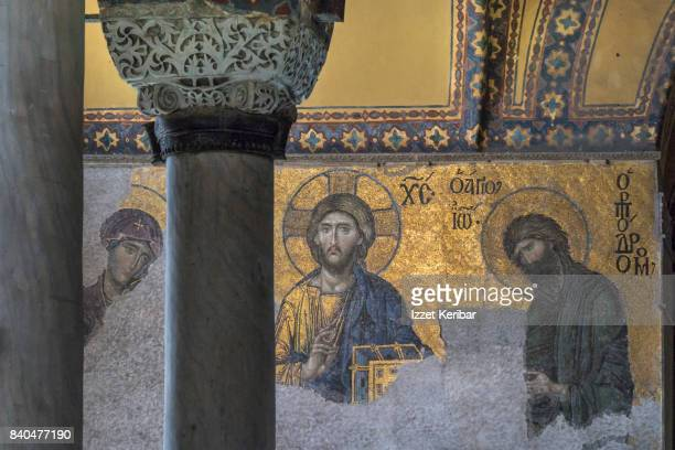 The great mosaics of Hagia Sophia, Deisis, gallery floor, Istanbul Turkey
